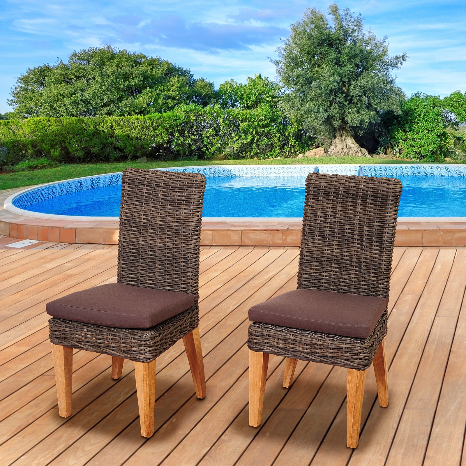 Amazonia Alto 2 Piece Chair Set with Cushions