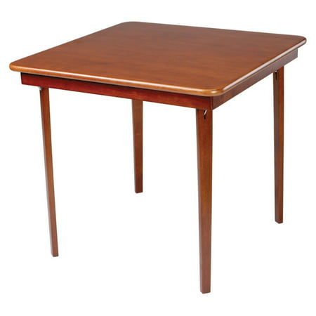 Hardwood Classic Straight Edge Folding Card table - Cherry ()