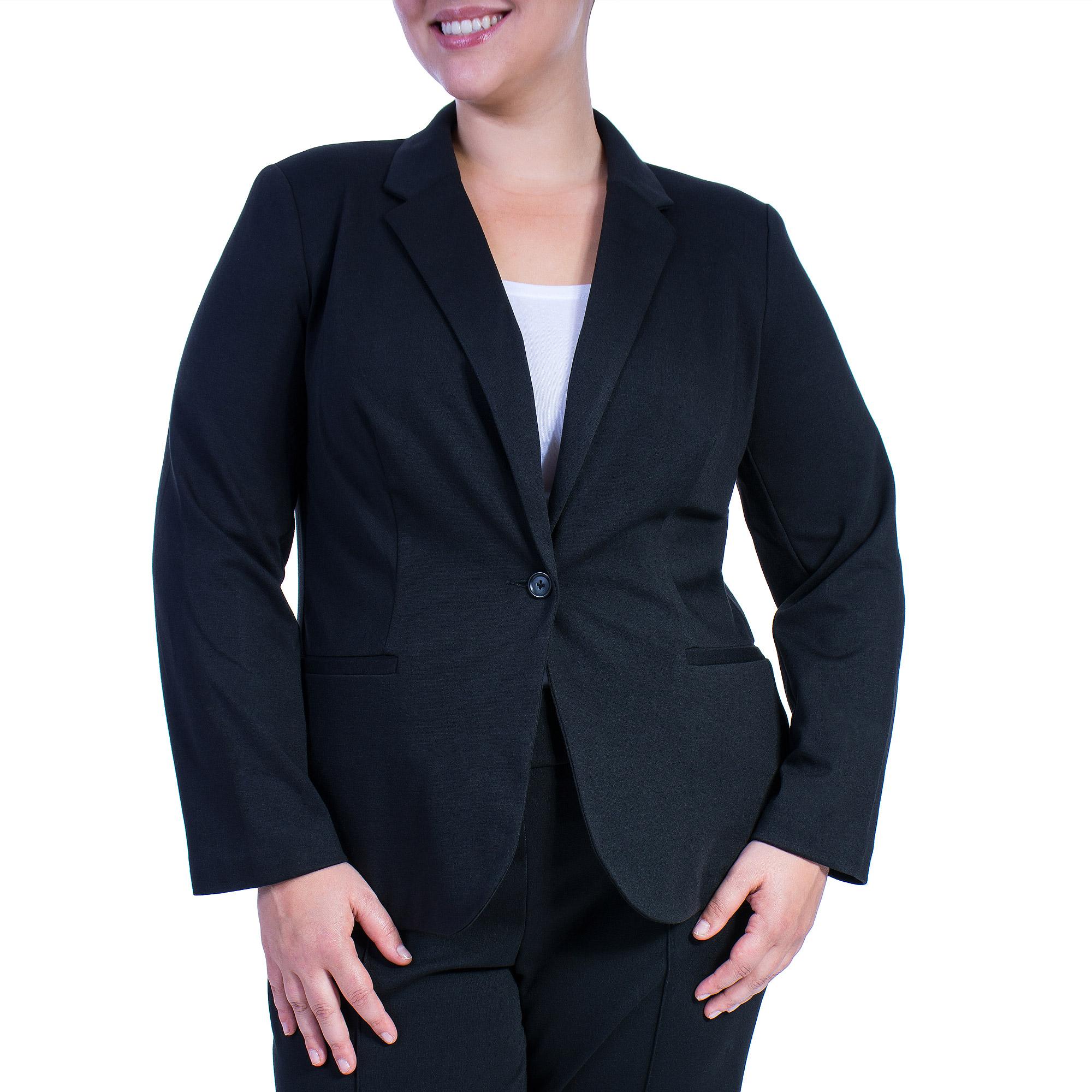 George Women's Plus-Size Ponte Suiting Jacket