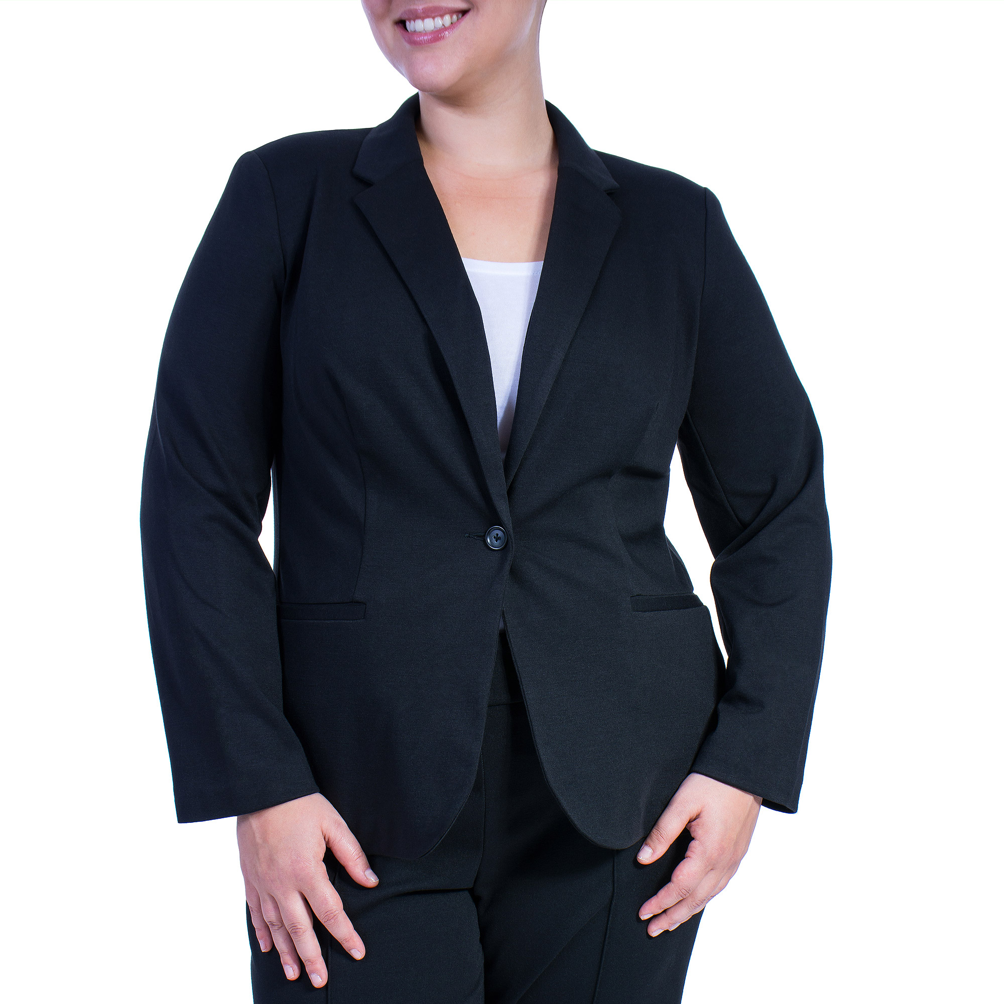 Women's Plus-Size Ponte Suiting Jacket