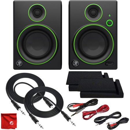Mackie CR4BT 4-Inch Creative Reference Multimedia Studio Monitors with Bluetooth Ultimate Cable Bundle Including Balanced Stereo TRS with Dual 1/4-Inch to 1/8-Inch, RCA and 3.5mm MP3 (Benefits Of Dual Monitors In The Workplace)