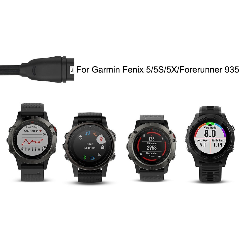 Charging Cable For Garmin Fenix 5 5s 5x Forerunner 935 Replacement Black Usb Data Sapphire Multisport Gps Watch