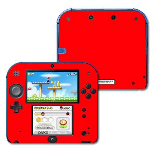 Mightyskins Protective Vinyl Skin Decal Cover for Nintendo 2DS wrap sticker skins Solid Red