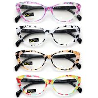 4d8ae186f14 Product Image 4 Pairs Lot Women Cateye Mosaic Pattern Fashion Reading  Glasses Reader