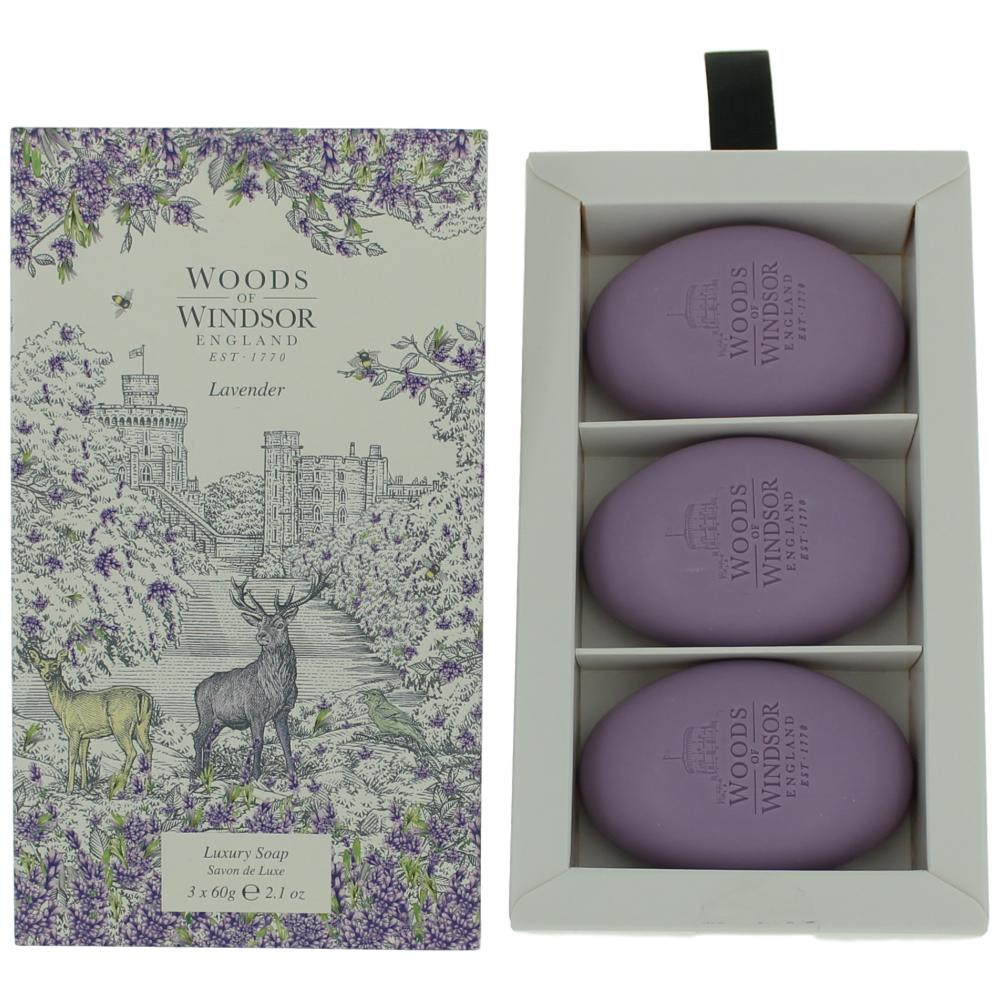 Woods of Windsor Lavender by Woods of Windsor 3 X 2.1 Luxury Soap women