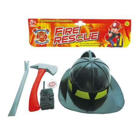 Mozlly Mozlly Emergency Rescue Fireman Plastic Helmet Fire Fighter Accessories Set Pretend Play Dress-up Costume Novelty Toy Kit Ideal Gift Children Toddlers Kids Boy Toys Games Playset, Colors May Va (Emergency Costumes)