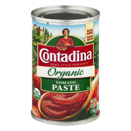 (3 Pack) Contadina Organic Tomato Paste 6 oz. Can (Contadina Tomatoes)