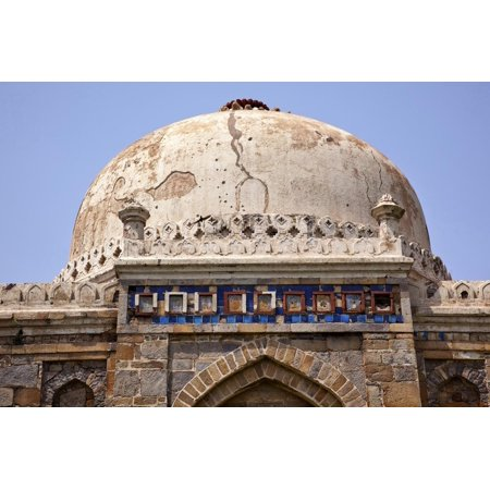 Large Ancient Dome Sheesh Shish Gumbad Tomb Lodi Gardens, New Delhi, India Print Wall Art By William Perry ()