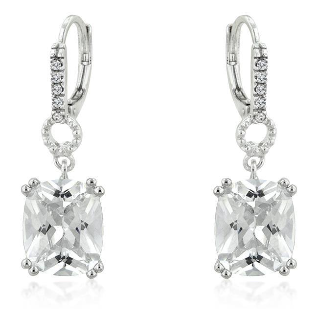 Kate Bissett E50123R-C01 Timeless Cushion Drop Earrings