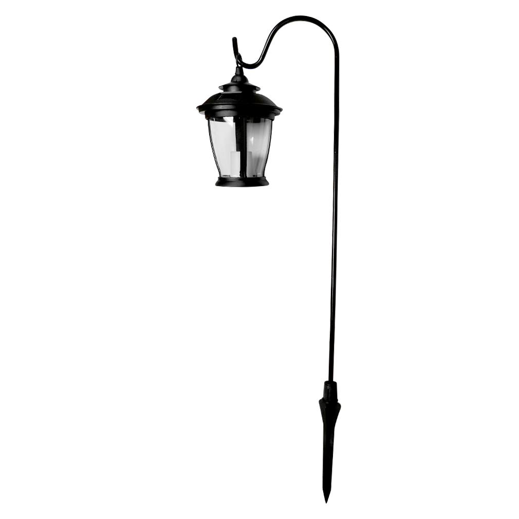 Solar Powered Led Lantern Light W Shepherd Hook Garden