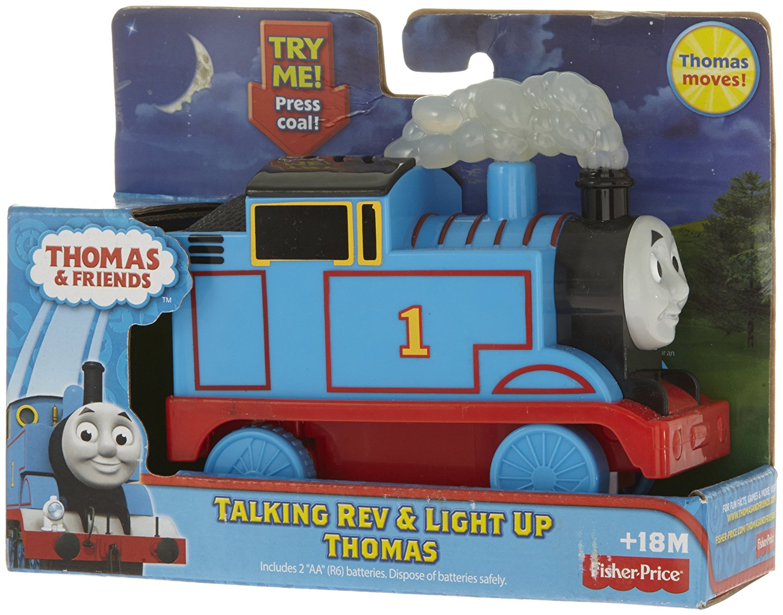 93f66d5cb83e6b Fisher-Price Thomas & Friends Talking Rev & Light Up Thomas Train, Press on  the Coal to rev Thomas up By FisherPrice From USA - Walmart.com