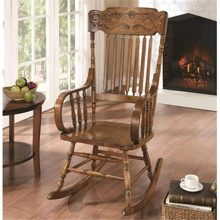 Admirable Coaster Company 600175 Rockers Wood Rocking Chair With Ornamental Headrest And Oak Finish Camellatalisay Diy Chair Ideas Camellatalisaycom