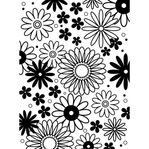 Embossing Folder Flower Frenzy 4.25X5.75 By Darice