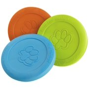 Zisc Flying Disc Dog Toy: Tangerine, 8.5 in. diameter By West Paw