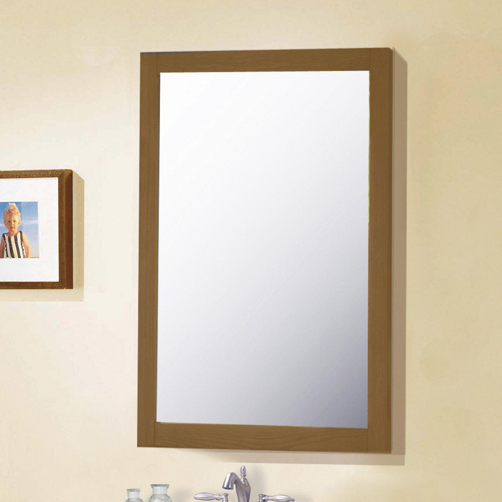 Legion Furniture 20 in. Bathroom Vanity Mirror - Weathered Gray