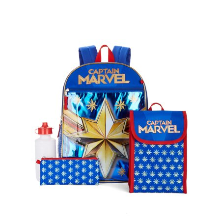Captain Marvel 5 Piece Backpack Set, 16″ Now $7.50 (Was $16.97)