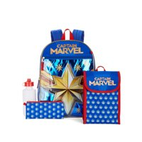 Deals on Marvel Captain Marvel 5 Piece Backpack Set 16-inch