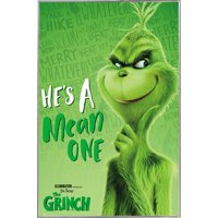 The Grinch Solo Poster in a Silver Metal Frame (24x36) 04133-PSA034334