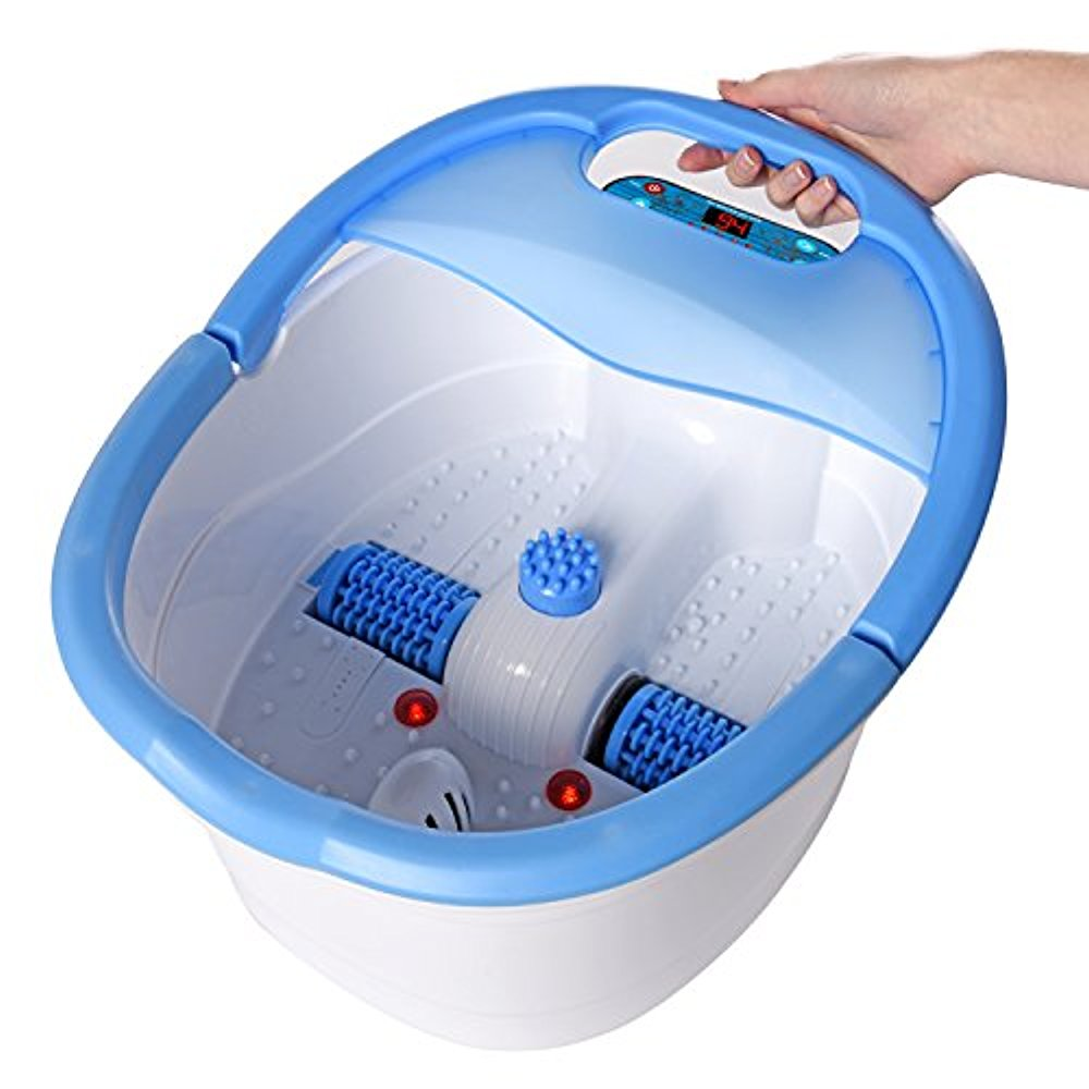 Ivation Multifunction Foot Spa Heated Bath with Vibration, Rollers ...