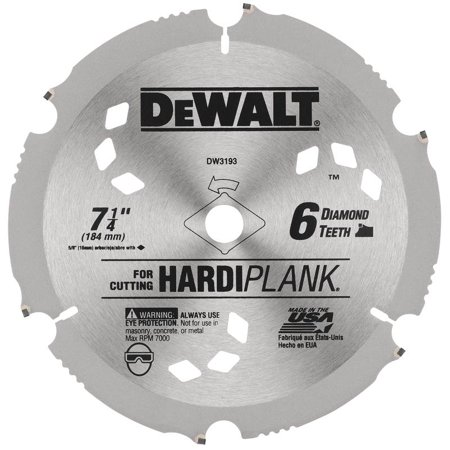 DEWALT 7 1/4u0022 Fiber Cement/Laminate Saw Blade