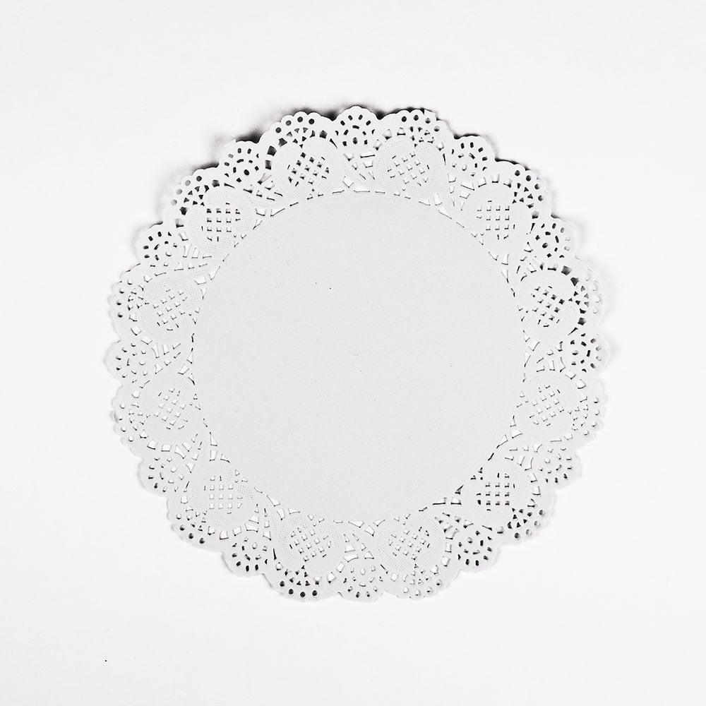 "Quasimoon 11.5"" White Lace Paper Doilies Disposable Party Table Decor (50-PACK) by PaperLanternStore"