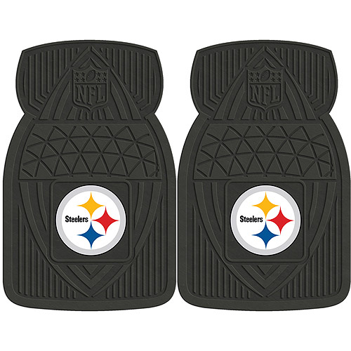 NFL 2-Piece Heavy-Duty Vinyl Car Mat Set, Pittsburgh Steelers