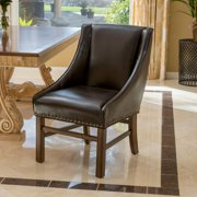 Christopher Knight Home James Contemporary Bonded Leather Upholstered Dining Chair, Brown