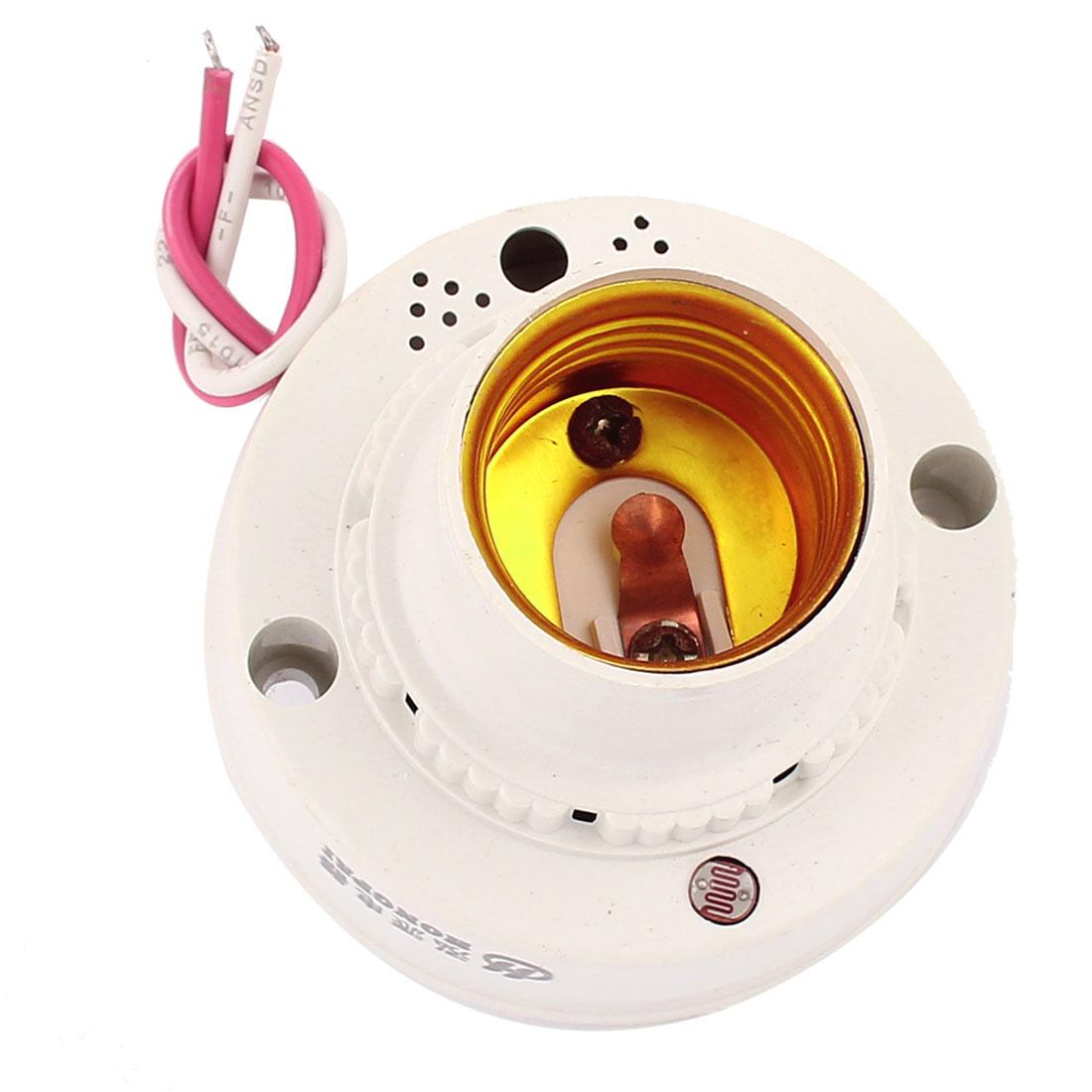 AC 175V-250V Sound Light Control Sensor E27 Lamp Bulb Holder Delay Switch