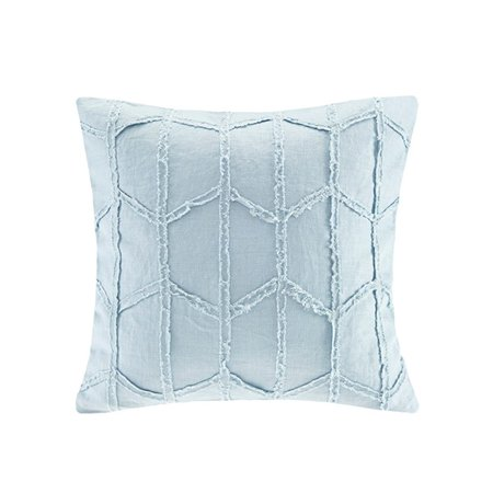 Blue Harbor (Harbor House Frayed Geo Linen Square Dec Pillow in Blue Finish)