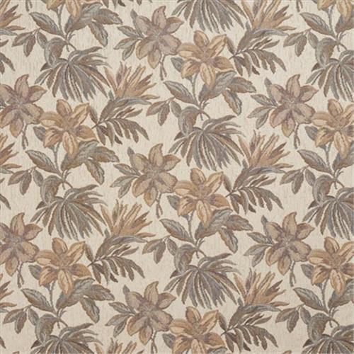 Designer Fabrics F865 54 in. Wide Ivory, Green And Beige, Floral Chenille Upholstery Fabric