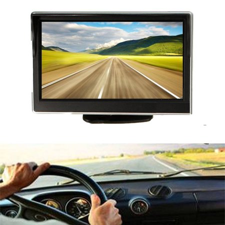 New 5 0 Inch Hd Tft Lcd Display Rearview Car Monitors For Dvd Gps Car Reverse Backup Camera Hot Sale Vehicle Driving Sucker Best Touch Screen Lcd Led Monitor Parking Assist