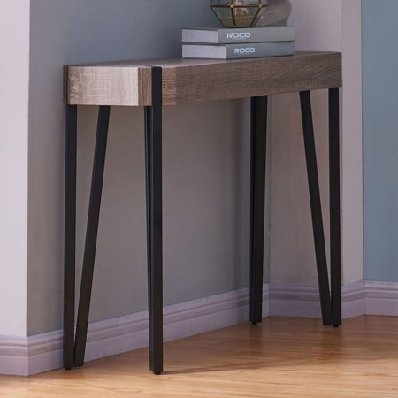 !nspire Faux Oak and Metal Console Table ()