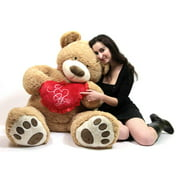 i love you 5 foot giant teddy bear valentines day soft holds big plush heart embroidered