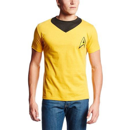 Star Trek Kirk Uniform Adult Gold Costume T-Shirt