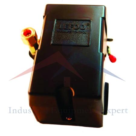 PRESSURE SWITCH CONTROL AIR COMPRESSOR 95 - 125 4 PORT HEAVY DUTY 26 AMP (Heavy Duty Key Switch)