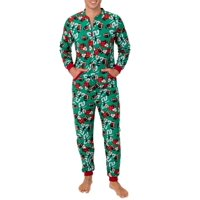 Deals on Fruit Of The Loom Mens Holiday Print Super Soft Union Suit