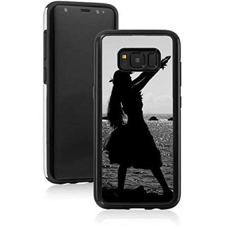 Shockproof Impact Hard Soft Case Cover for Samsung Galaxy Hula Dancer Silhouette Hawaii (Black, for Samsung Galaxy Note 9) (Dancers Silhouette)