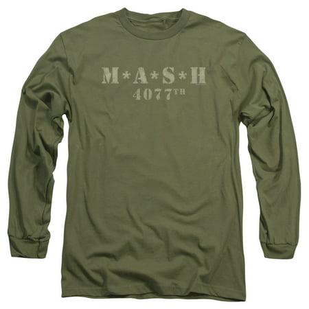 Mash Distressed Logo Long Sleeve Shirt Adult ()