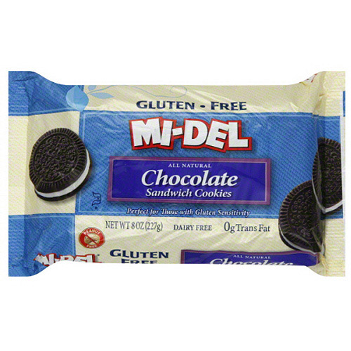 MI-DEL Gluten-Free Chocolate Sandwich Cookies, 8 oz (Pack of 12)