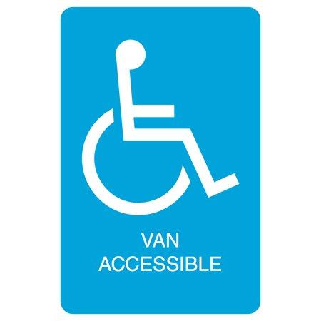 Blue Handicap Symbol Van Accessible Print Parking Car Lot Business Office Sign