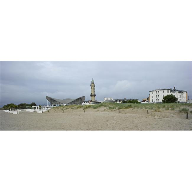 Panoramic Images PPI151661S Lighthouse & Hellas Teepott From Warnemunde Beach Warnemunde Rostock Germany Poster Print, 27 x 9 - image 1 of 1