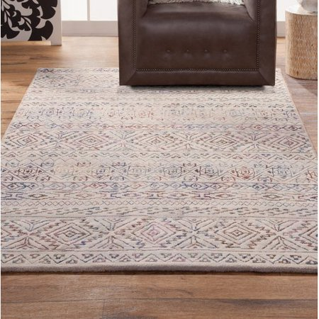 Bungalow Rose Coppermead Machine Woven Synthetic Ivory/Pink Indoor Area Rug