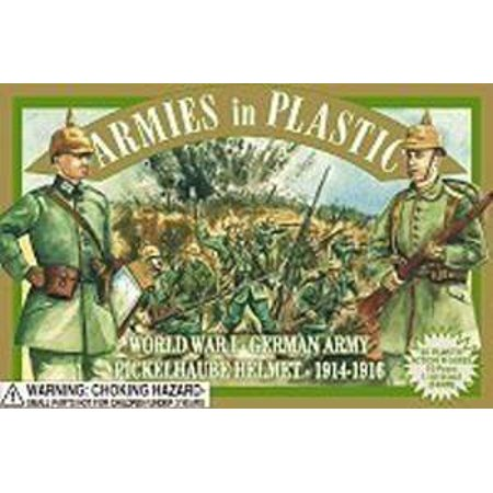 WWI German with Pickelhaube Helmet Offered By Classic Toy Soldiers, Inc by,  Armies in Plastic WWI German  ,By Classic Toy Soldiers, Inc By Armies in