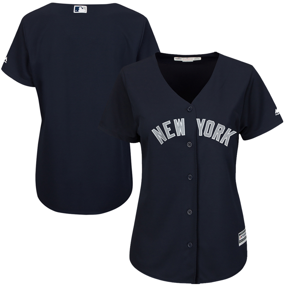 New York Yankees Majestic Women's Fashion Cool Base Jersey Navy by MAJESTIC LSG