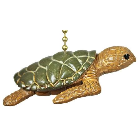 - Tropical Reef Ocean Sea Turtle Tiki Ceiling Fan or Light Pull