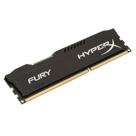 HyperX FURY Memory Black 8GB 1600MHz DDR3 CL10 DIMM HX316C10FB/8