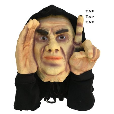 Electronic Tapping Window Halloween Decoration, Fun Party Prop and gag gift to scare friends and family By Scary Peeper - Scary Halloween Stories With Props