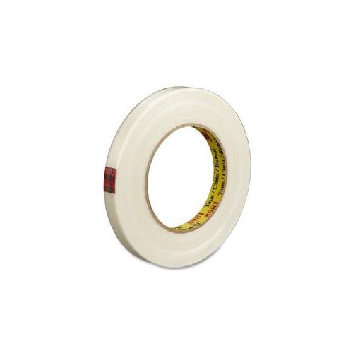 3M COMMERCIAL OFC SUP DIV Filament Tape, 3 Core, 3/4x60Yards, Clear