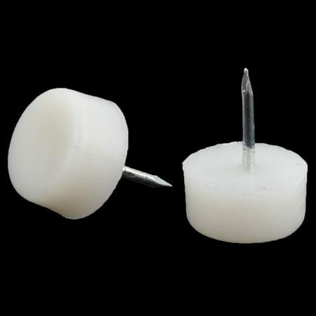 Pieds Meubles Plastique Bureau Protector Tack Glisse Blanc Clous 21mm Diamètre 10 pcs - image 1 de 2