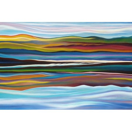 Serenity Transitional Scenic Abstract Landscape Print Wall Art By Hyunah Kim Abstract Landscape Art Print